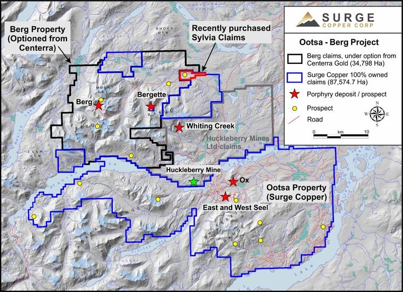 surge copper project map